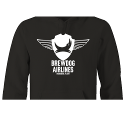 Black Brewdog 'Inaugural Flight' Lady-Fit Hoodie
