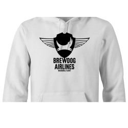 White Brewdog 'Inaugural Flight' Lady-Fit Hoodie