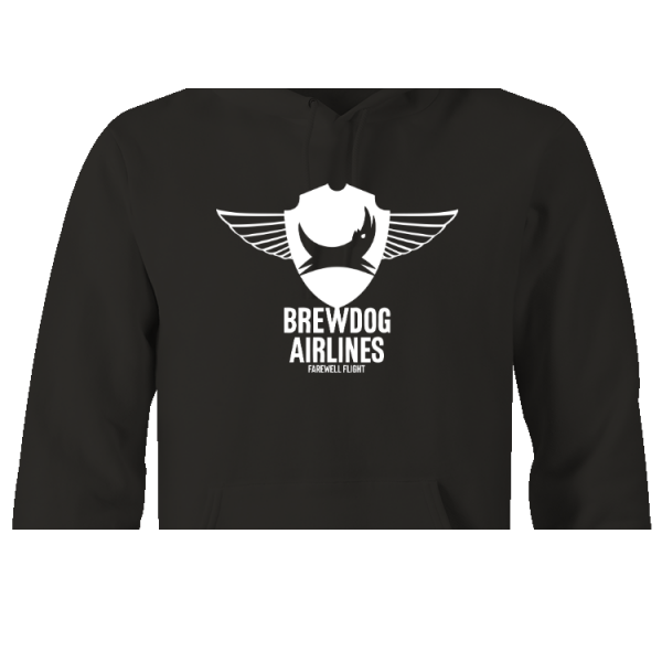 Black Brewdog 'Farewell Flight' Lady-Fit Hoodie