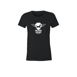 Black Brewdog 'Farewell Flight' Lady-Fit T-Shirt