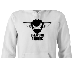 White Brewdog 'Farewell Flight' Lady-Fit Hoodie