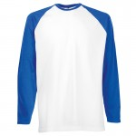 Fruit Of The Loom Long Sleeve Baseball Tee
