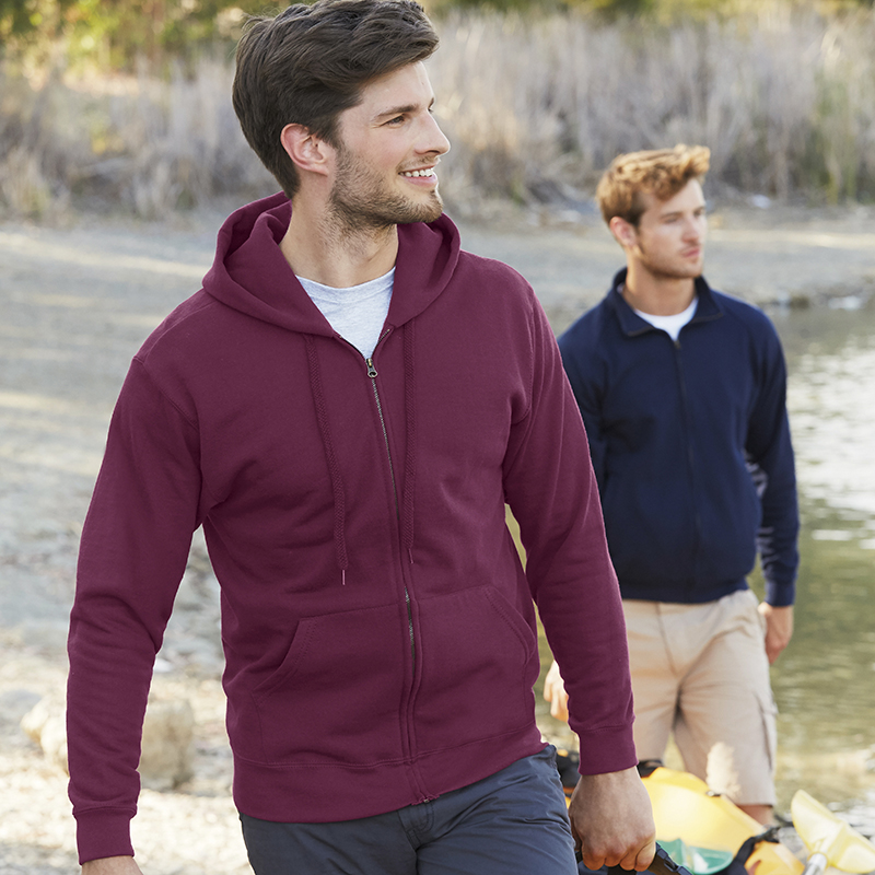Fruit Of The Loom Classic 8020 Hooded Sweatshirt Jacket