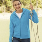 Personalised Fruit Of The Loom Premium 70/30 Ladies Hooded Sweatshirt Jacket