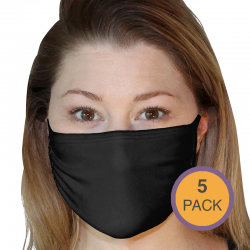 Custom Printed Fruit of The Loom Adult Face Mask - 5 Pack