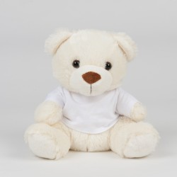Small Cream Bear In A T-Shirt