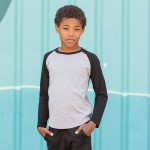 Skinnifit Kids Long Sleeve Baseball T