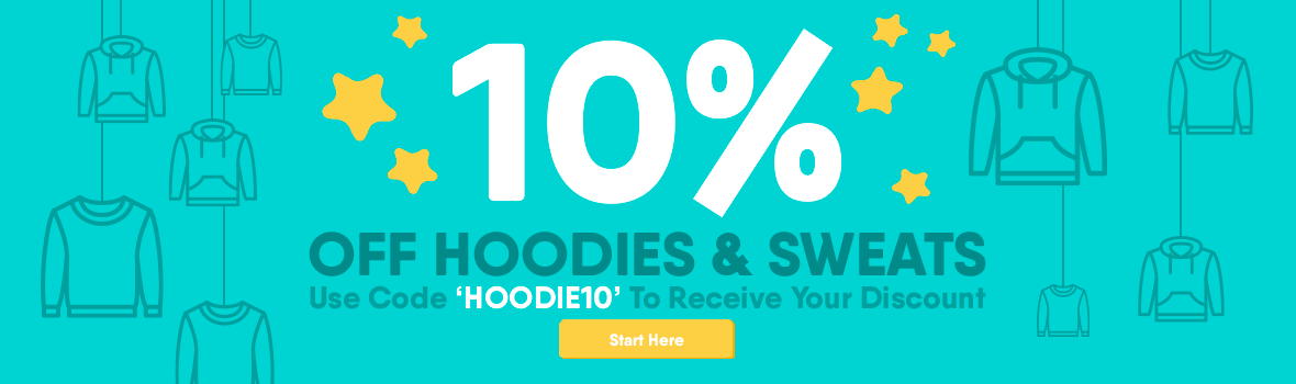 10% off hoods & sweats